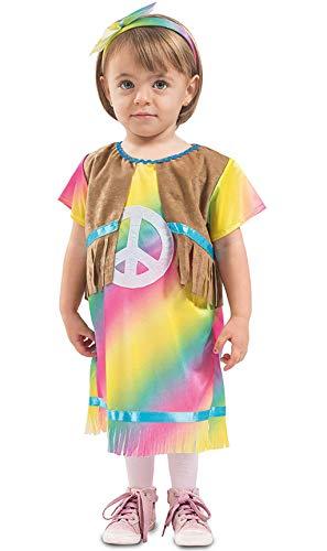 Generique - Disfraz Vestido Hippie beb - 6  12 mois (67-69 cm)