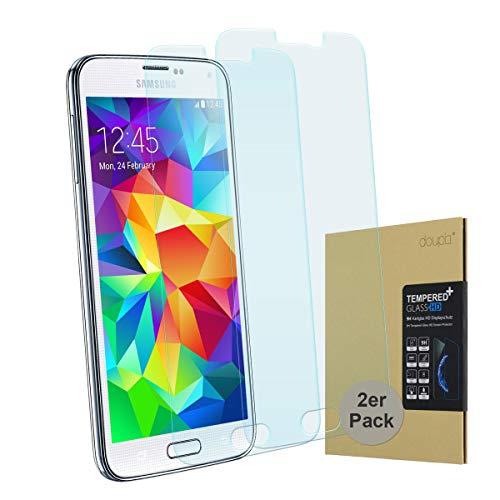 doupi 2X Protector de Pantalla Compatible con Samsung Galaxy S5, 3D 9H HD Duro Vidrio Templado, 2 Piezas, Transparente
