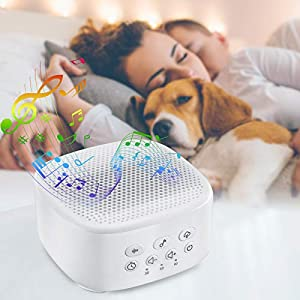 MIGVELA White Noise Machine for Sleeping with 21 High Fidelity Sleep Machine Soundtracks and Timer Function Portable Sleep Sound Machine Therapy for Baby, Adults