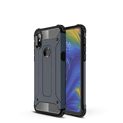 Botongda Xiaomi Mi Mix 3 5G Hülle,Schlagfestes & kratzfestes Gehäuse mit rückseitige Abdeckung mit Einer Kombination aus robustem PC & weichem TPU für Xiaomi Mi Mix 3 5G(Navy blau)