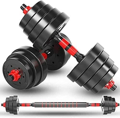 SupBiky Hantelset 50kg Kurzhantel Set mit 2 Kurzhanteln 25 mm gerändelt, 16 Gewichte und Sternverschlüsse | Kurzhantelset Hantel Kunststoff trainieren für Krafttraining