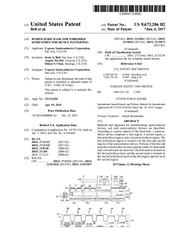 Buried hard mask for embedded semiconductor device patterning: United States Patent 9673206 (English Edition)