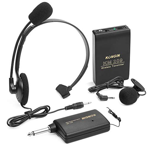 AZFUNN Wireless Lavalier Lapel Microphone, Headset Mic System for Teaching, Preaching and Public Speaking