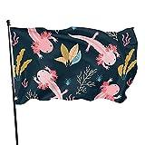 GOSMAO Bandera de jardín Escena de Acuario Color Vivo y Resistente a la decoloración UV Bandera de Patio Cosida Doble Bandera de Temporada Banderas de Pared 150X90cm