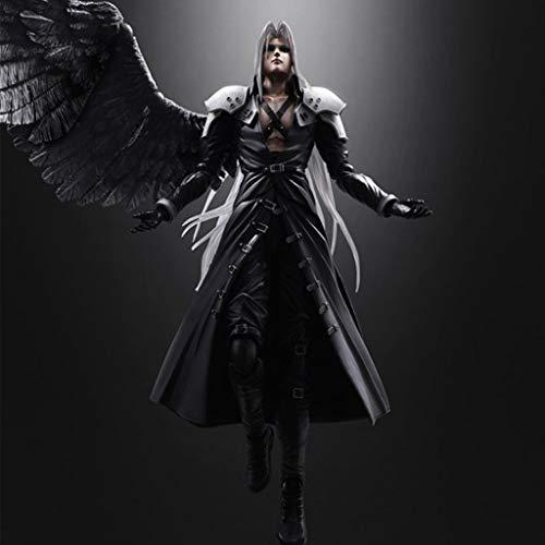 CJH Final Fantasy VII Action-Figur Sephiroth Play Arts Movable Modell handgemachte populäre Geschenk, Spielzeug, Dekorationen aus Final Fantasy 7 Peripherals Spiel Puppe Ornamente