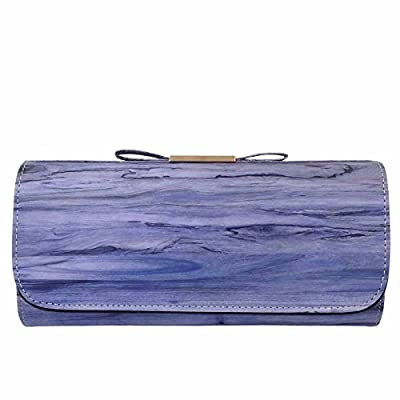 Vintage Wood Pattern Clutch with Bow