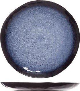 Cosy & Trendy 8642027–Teller Geschirr seitlich, Oval, Schwarz, Blau, Weiß, 27cm, 778G, 1Stück (S)