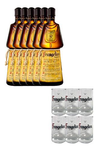Frangelico Haselnuss 6 x 0,7 Liter + 6 Gläser