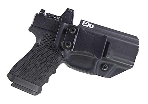 Fierce Defender IWB Kydex Holster Compatible with Glock 19 23 32 w/Optic Cut -Winter Warrior Series -Made in USA- (BLK)