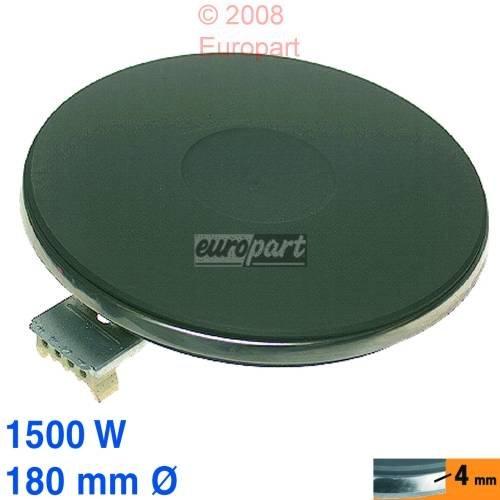 Kochplatte, Herdplatte 180Ø, 1500W 230V, 4 Anschlüsse für Kochmulden mit Massekochplatten wie EGO 13.18453.040