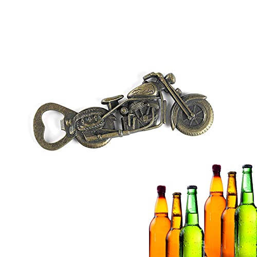 Abrebotellas de motocicleta, abrelatas de anillo sólido y duradero, abridor de botellas...