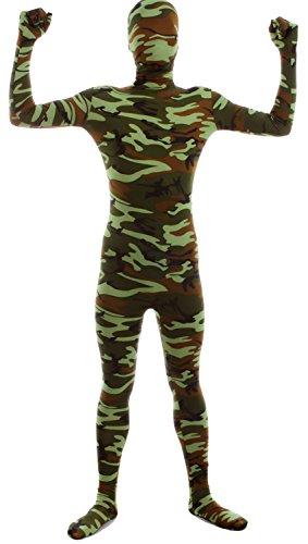 VSVO Second Skin Zentai Full Body Costume (Medium, Camo Green)