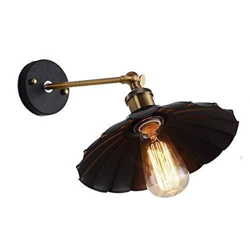 BOSSLV Lampes Murales de Lavage Lampes Lampes Spotlights Eclairage E27 Retro Industriel Parapluie Noir Design en Fer Forgé Creative