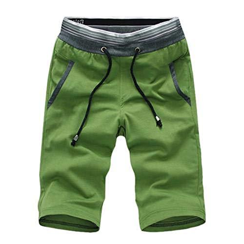N\P Pantalones cortos de playa de verano de los hombres de talla grande con cordón de color pantalones cortos casuales