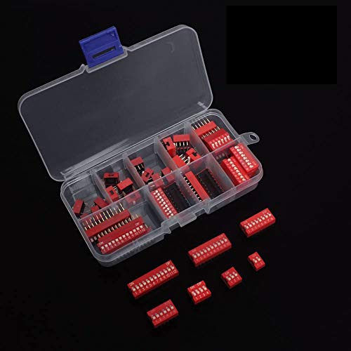 Kit Surtido de Interruptor Dip de Doble Fila de Inmersión Off Paquete de Interruptor de palanca tipo Slide de 40 pines para CircuitoTableros de Pruebas y Arduino