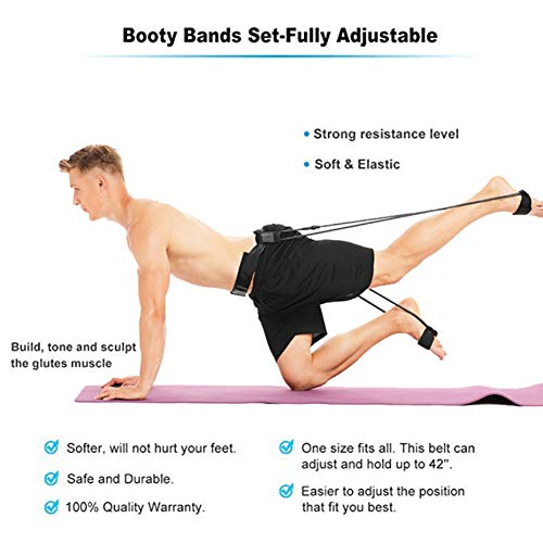 Hankyky Booty Band Belt, Fitness Resistance Belt, Adjustable Loop Muscles Trainer, Gym Gym Glute Lifter Resistance Band