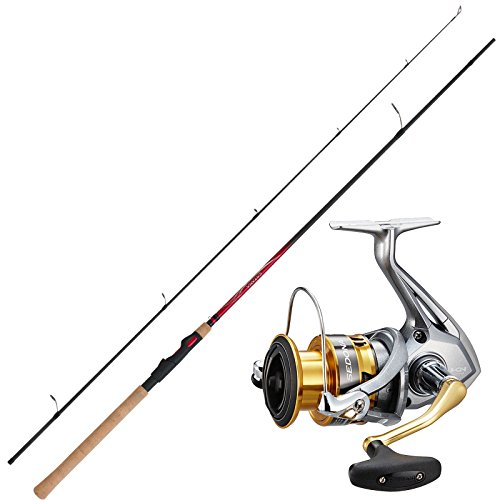 SHIMANO Angelset Hecht Spinnangeln Angelrute Angelrolle Combo No2