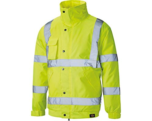 Dickies Bomberjacke mit leichtem Futter Warnschutz SA22050, Farbe:gelb;Größe:XXXL