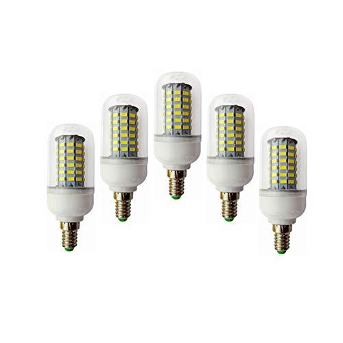 Bombilla LED de repuesto E14 luz LED de la lámpara de maíz, 12 voltios y 24 voltios - 10W Maíz Bombilla 69LED 5730SMD AC / DC 10-60v for RV Camper marina, energía solar Luz y la rejilla 5pcs /