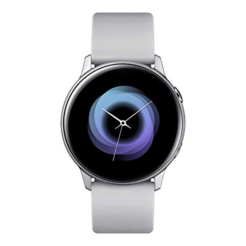 Samsung Galaxy Watch Active Smartwatch Bluetooth v4.2, 40 mm, con GPS, Sensore di Frequenza Cardiaca, Peso 25 g, Batteria 230mAh, Argento (Silver) [Versione...