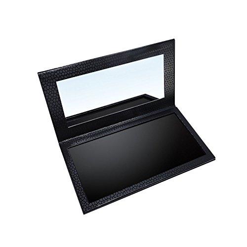 Allwon Magnetic Palette Leere Lidschatten Make-up-Palette mit Spiegel für Lidschatten Lippenstift Rouge Powder (Schwarz)