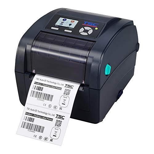 TSC TC200 Drucker mit Abreißkante - 203 dpi - Thermodirekt, Thermotransfer - 108 mm max. Druckbreite, LAN, parallel, seriell, USB Schnittstellen