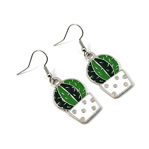 YAZILIND Cactus Ear Hooks Simple Plant Shape Drop Earrings Women Fishhook Earring Birthday Gift Jewelry(#2)
