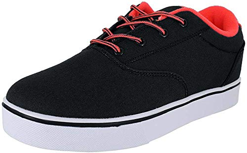 Heelys Men's Launch Skateboarding Shoe, Black/Red, 9 M US