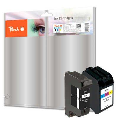 Paquete Combinado de Peach Compatible con HP 51645A, No. 45,