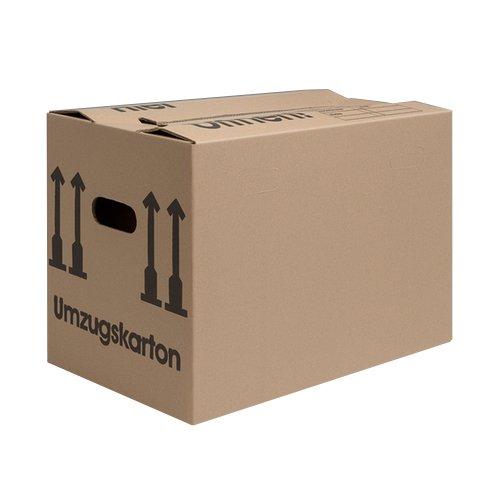 as-kartons - Scatole di cartone per trasloco, 10 pezzi (professionali) stabili + 2 vie, per trasloco