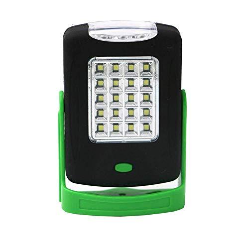 Linterna de bolsillo LED de trabajo magnética, soporte colgante giratorio, gancho giratorio para la noche, linterna de uso AAA