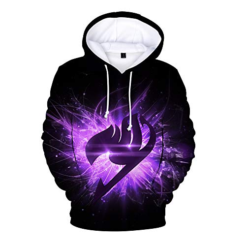 Fairy Tail Pullover Anime Druck Hoodie Lässige T-Shirt lose Pullover for Erwachsene und Kinder Unisex (Color : A12, Size : 120)