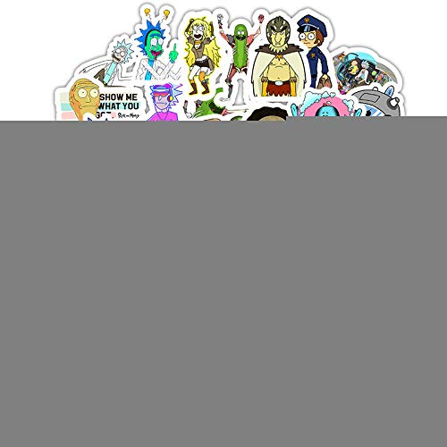 Car Stickers Do Not Repeat Rick And Morty Cartoon Suitcase Laptop Helmet Waterproof Stickers 50pcs