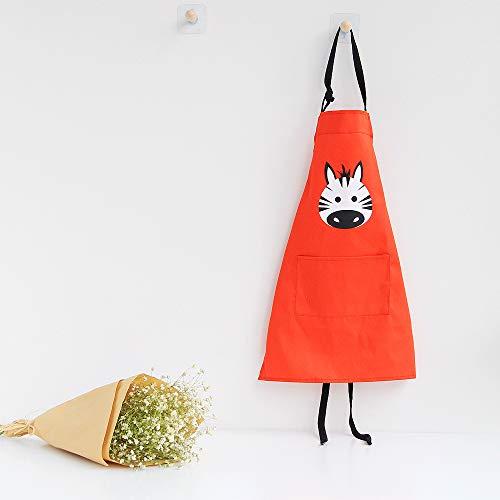 JameStyle26 Delantal de algodón y lino con diseño de estrella para mujer, delantal de cocina con bolsillo, para cocinar, hornear, para niños, tamaño S y L, color rojo