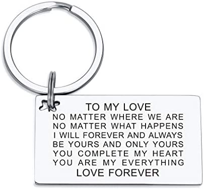 Love Keychain Boyfriend Girlfriend Birthday Gifts You are My Everything Anniversary Valentines product image