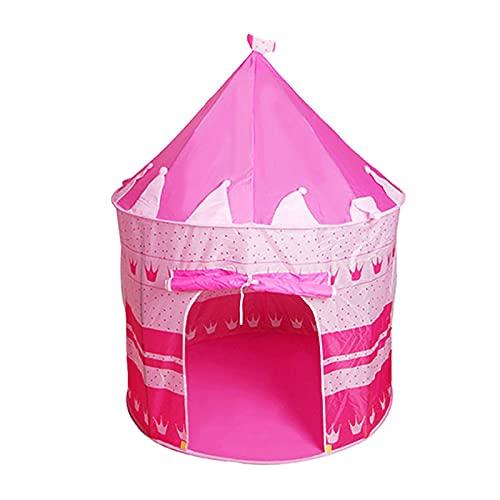 FDYZS Portátil Mini Tent Indoor Padres-Child Camping Casa Casa Bebé Portátil Portátil Agua Ligera Resistente a Familia Picnic Garden,Rosado