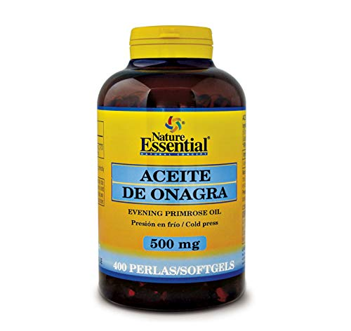 400 perlas Aceite de Onagra 500 mg con 10% en GLA (Ácido Gamma-linolénico) + 3,35 mg de Vitamina E. 400 perlas | Nature Essential
