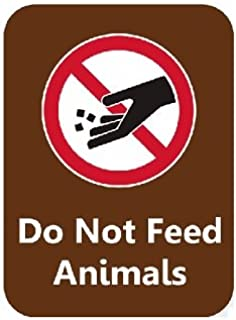 Do Not Feed Animals Brown OSHA safety sign, 5