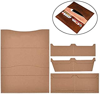 CHZIMADE Leather Tools Patterns Wallet Stencil Template Set Kraft Paper Patterns Accessory for Leather Handcraft DIY Making