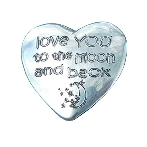 Love you to the moon, Happy Valentine's Day, Be My Valentine, Hand Cast by William Sturt In Finest Pewter