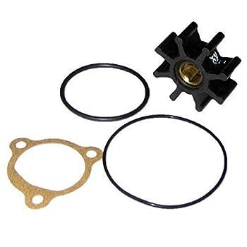 Jabsco 14750-0003-P Nitrile Drive Type 4 8 Blade 1-1/4 Diameter 15/32 Width 5/16 Shaft Brass Insert