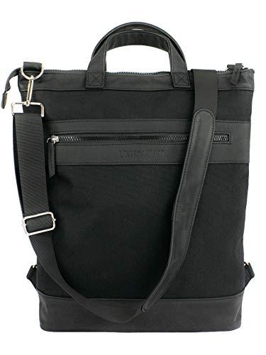 Totepack Crossover Umhängetasche Schwarz Rucksack-Tasche 2 in 1 Tote-Bag A4 15,6