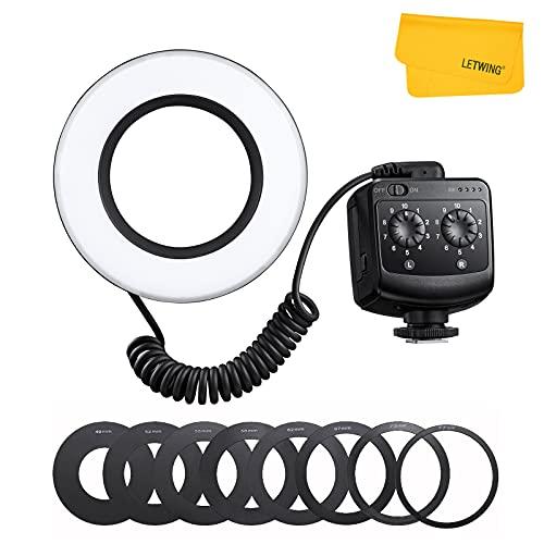 Godox Ring 72 Macro Ring Flash Speedlite with 8 Lens Adapter Rings for Canon Nikon Pentax Olympus DSLR Cameras