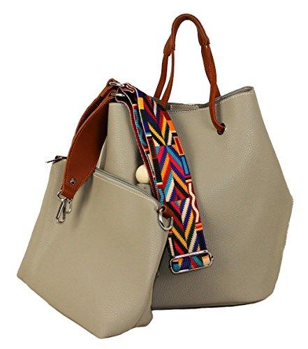 Limited-Colors, Borsa a tracolla donna, grigio chiaro (grigio) - 3012161148