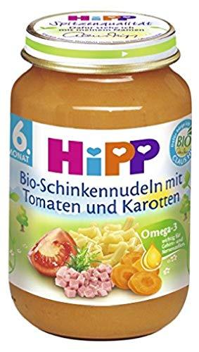 Hipp prosciutto Bio Pasta Con Pomodori E Carote, confezione da 6(6x 190g)–Bio