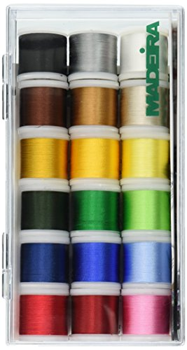 Tacony Corporation Madeira Rayon Thread Sampler-18 Spools