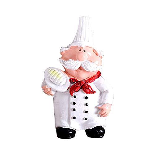 YU-HELLO Imán para nevera con diseño de dibujos animados en 3D, diseño de chef, magnético para nevera y nevera