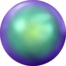2080/4 Swarovski Flatback Crystals Hotfix Round Pearl Cabochons 3.9mm | Crystal Scarabaeus Green | 3.9mm (SS16) - Pack of 50 | Small & Wholesale Packs