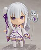 Skwingt Re:Life in A Different World from Zero Emilia Q Version of Nendoroid, Replaceable Face 10cm PVC Figure Statue, Anime Game Character Model, Computer Desktop Ornaments Anime Fans' Favorite Boxe