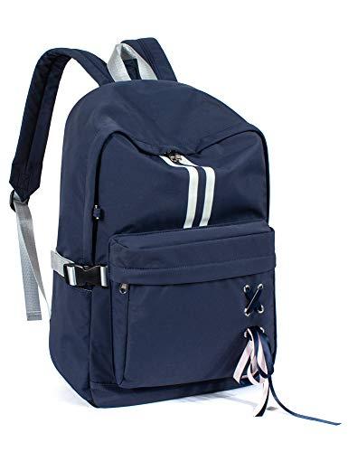 Leaper Fashion Laptop Backpack Bookbag School Bag Travel Daypack Dark Blue